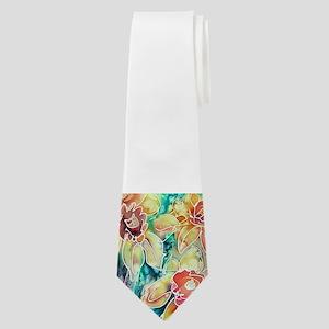 Daffodils! Spring flower art! Neck Tie