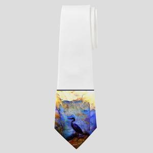 Beautiful great heron, wildlife art Neck Tie