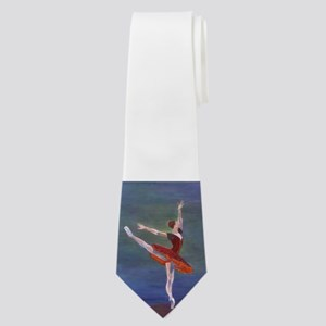 Red Ballelrina Neck Tie