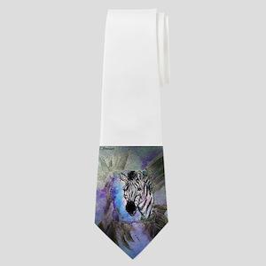Zebras! Wildlife art! Neck Tie