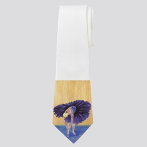 Purple Ballerina Neck Tie