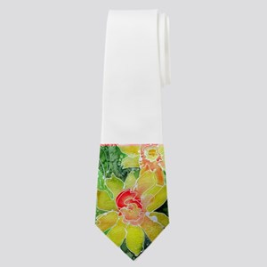 Daffodils! Floral art! Neck Tie
