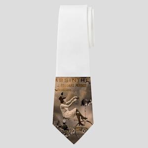 Absinthe Liquor Neck Tie