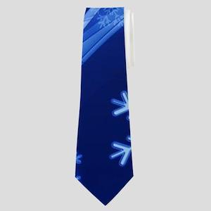 Blue Snowflakes Neck Tie