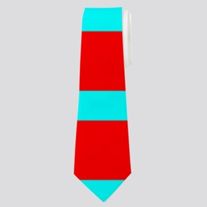 Turquoise Blue Red Stripes for Angela Neck Tie