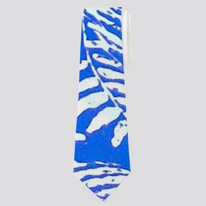 White Palm Leaves Neck Tie