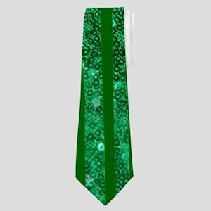 glitter shamrock Neck Tie