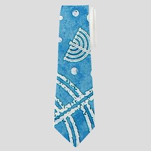 Hanukkah Menorah Pattern Neck Tie