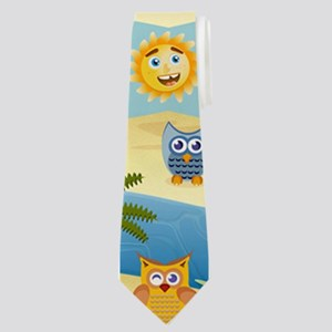 summer owls Neck Tie