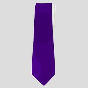 Purple Lavender Dark Light Modern Dots Neck Tie