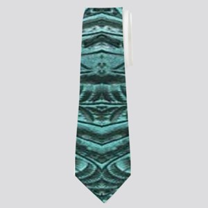 girly chic teal turquoise tooled leather Neck Tie