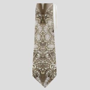 glamorous girly Rhinestone lace pearl Neck Tie