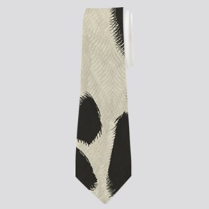 Faux Holstein Cowhide Pattern Neck Tie