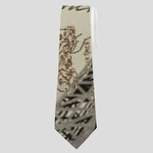 floral vintage paris eiffel tower Neck Tie