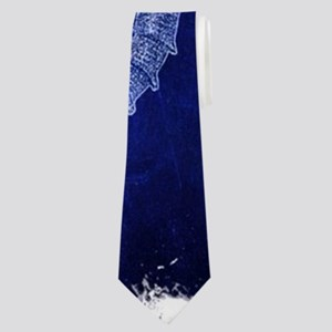 beach blue seahorse Neck Tie