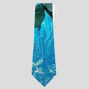 Underwater, wonderful mermaid Neck Tie