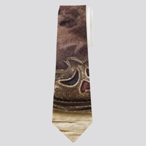 flower western country cowboy boots Neck Tie