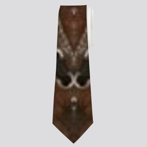brown leather western country Neck Tie