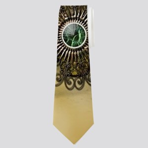 Steampunk, cute owl Neck Tie