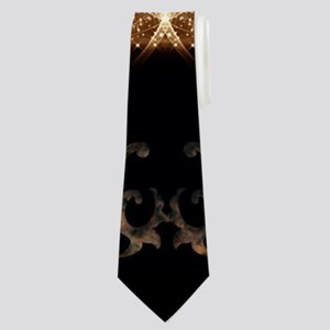 Music, clef with awesome light effect Neck Tie