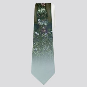 Cute little fairy with dragon Neck Tie