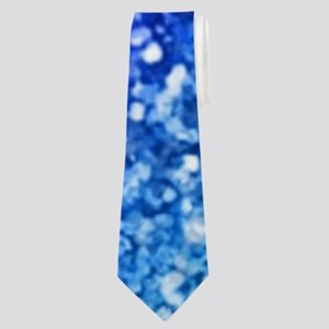 Glitter Ocean Bokeh Neck Tie