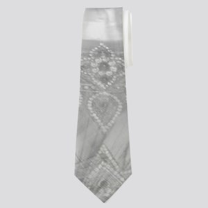 buddha in silver Neck Tie