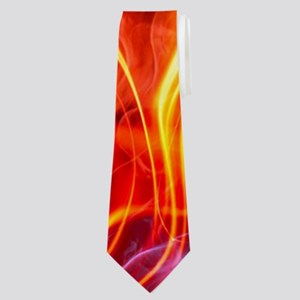 Flaming Football Ball Neck Tie