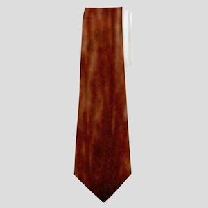 wood grain USA American flag Neck Tie