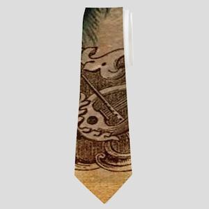 romantic paris vintage peacock Neck Tie