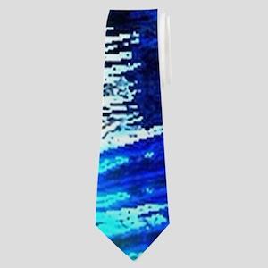 beach blue waves surfer Neck Tie