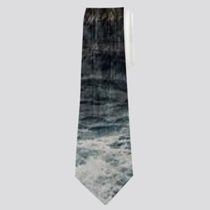 cabin rustic grizzly bear Neck Tie