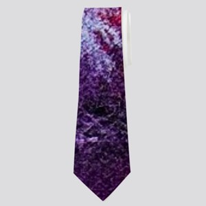 landscape purple cherry blossom Neck Tie
