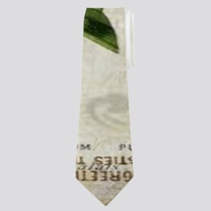vintage french botanical orchid Neck Tie