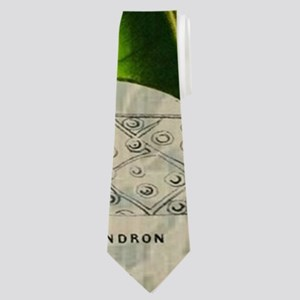 french botanical white lily Neck Tie