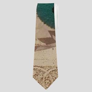 french beach sea shells Neck Tie