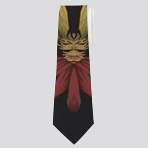 hipster vintage floral mandala Neck Tie