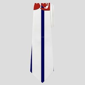 blue nautical stripes vintage lobster Neck Tie