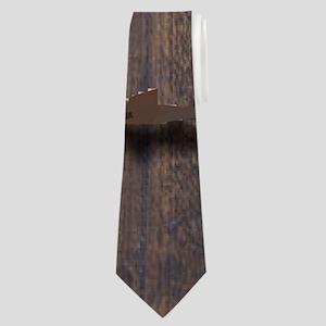 western barnwood texas star Neck Tie