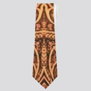 western cowboy tooled leather Neck Tie