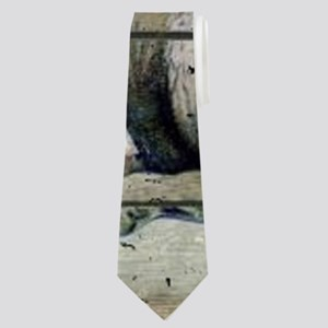 funny pig bacon king Neck Tie
