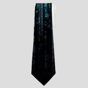 Digital Rain - Blue Neck Tie