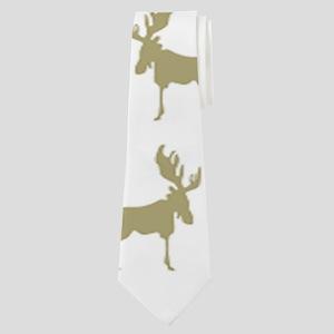 Moose Pattern Neck Tie