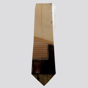 cowboy boots western country barn wood Neck Tie