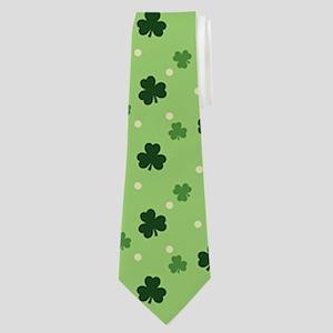 Shamrock Pattern Neck Tie