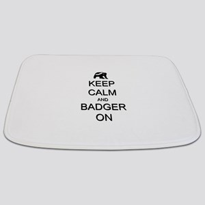 Keep Calm and Badger On Bathmat