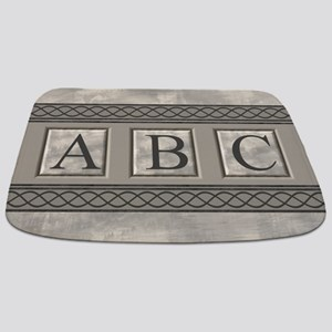 Personalizable Marble Monogram Bathmat