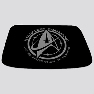 Grey Starfleet Command Emblem Bathmat