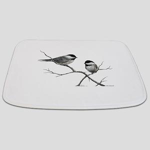 chickadee song bird Bathmat