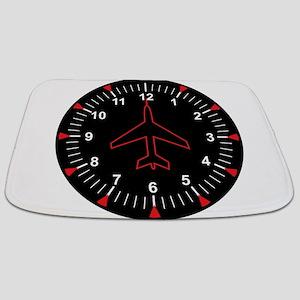 Heading Indicator Clock Bathmat